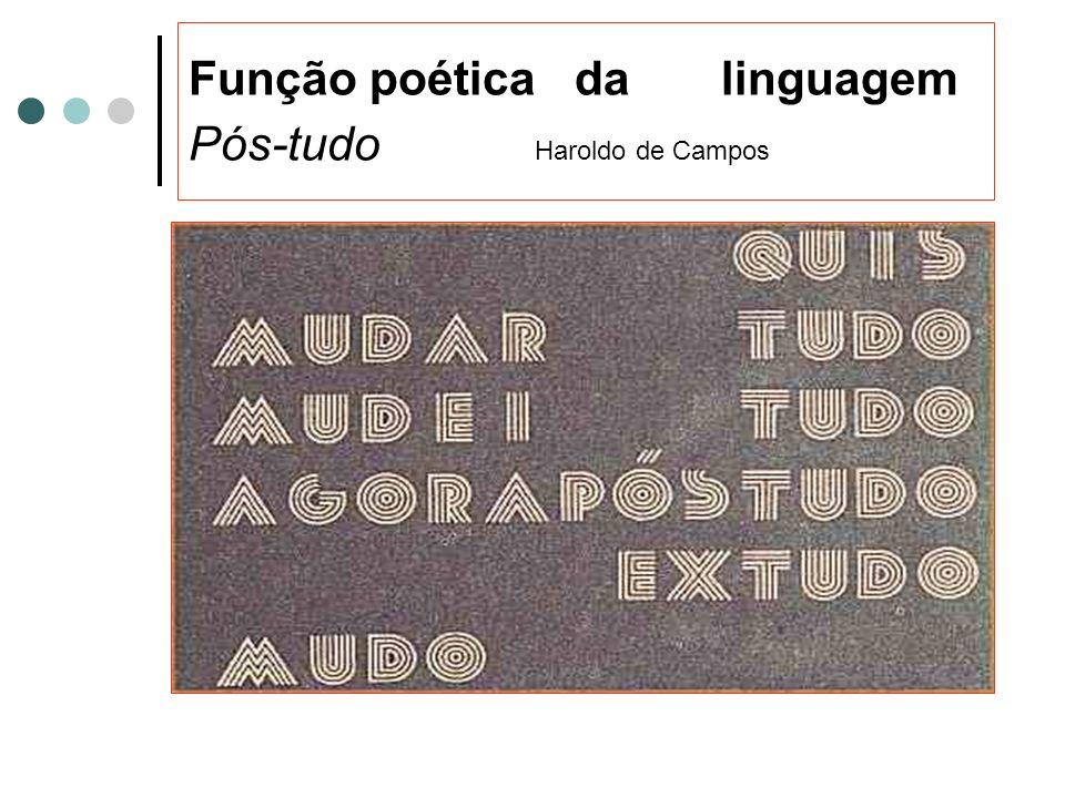 Função Poética Subjetividade Figuras de linguagem Brincadeiras com o código Poesia /rima Letras de música