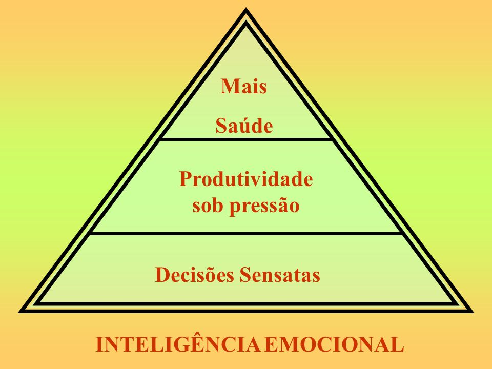 Mais Saúde Produtividade sob pressão Decisões Sensatas INTELIGÊNCIA EMOCIONAL