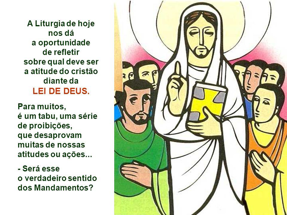 A Liturgia de hoje nos dá a oportunidade de refletir sobre qual deve ser a atitude do cristão diante da LEI DE DEUS.