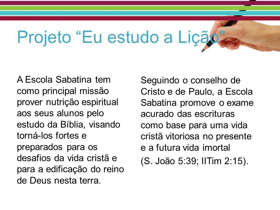 Ellen White: A Escola Sabatina oferece a pais e filhos preciosa oportunidade para o estudo da Palavra de Deus.