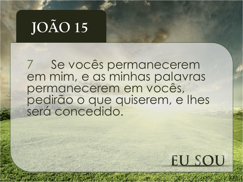 8Meu Pai é glorificado pelo fato de vocês darem muito fruto; e assim serão meus discípulos.