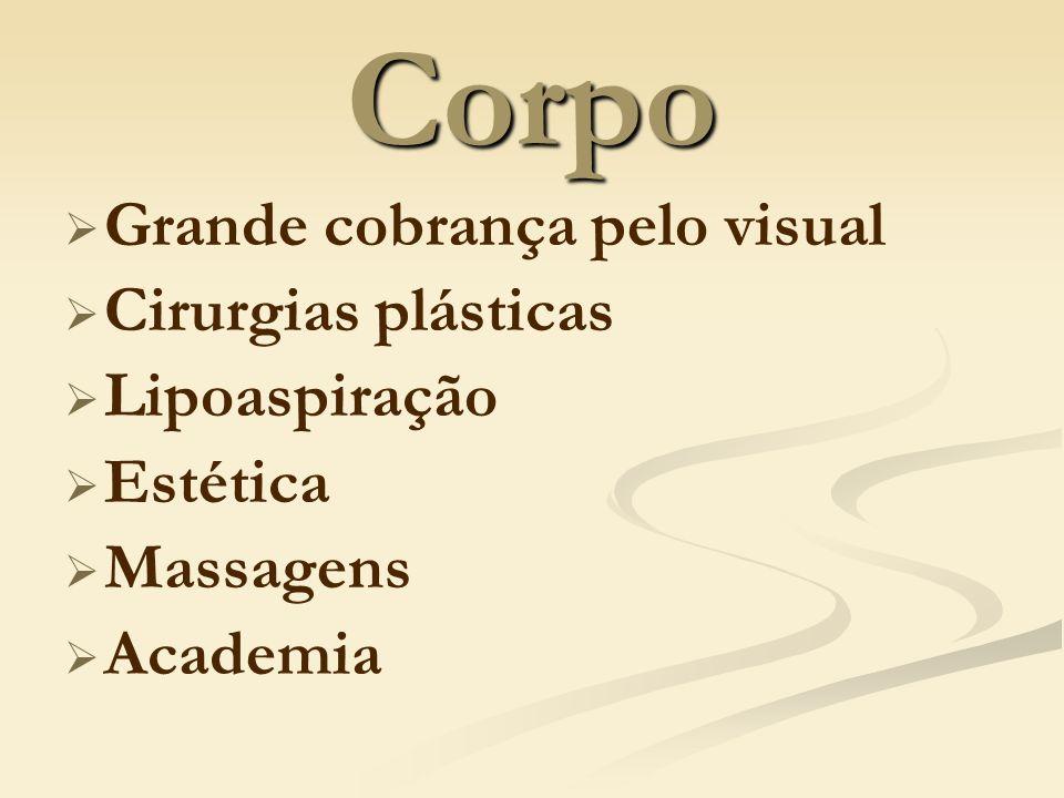 Corpo Grande cobrança pelo visual Cirurgias plásticas Lipoaspiração Estética Massagens Academia