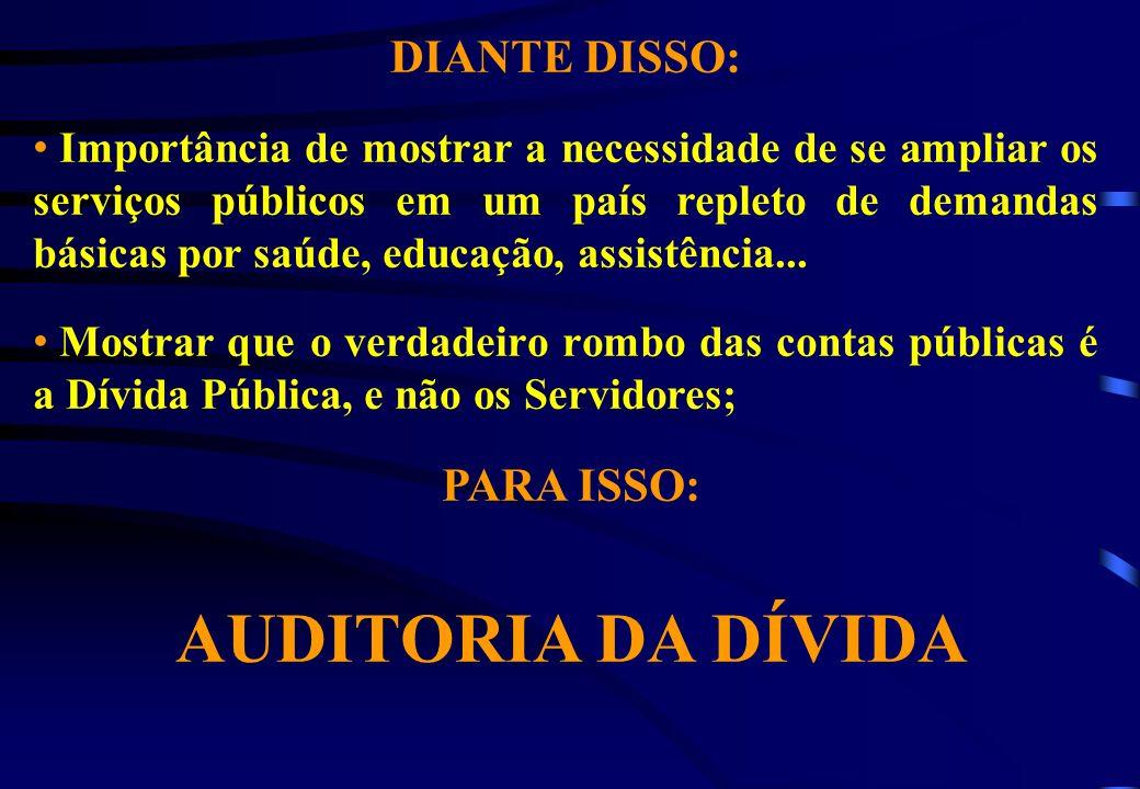 DIANTE DISSO: Importância de mostrar a necessidade de se ampliar os serviços públicos em um país repleto de demandas básicas por saúde, educação, assi