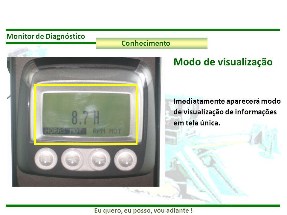 Eu quero, eu posso, vou adiante ! Monitor de Diagnóstico Conhecimento Imediatamente aparecerá modo de visualização de informações em tela única. Modo