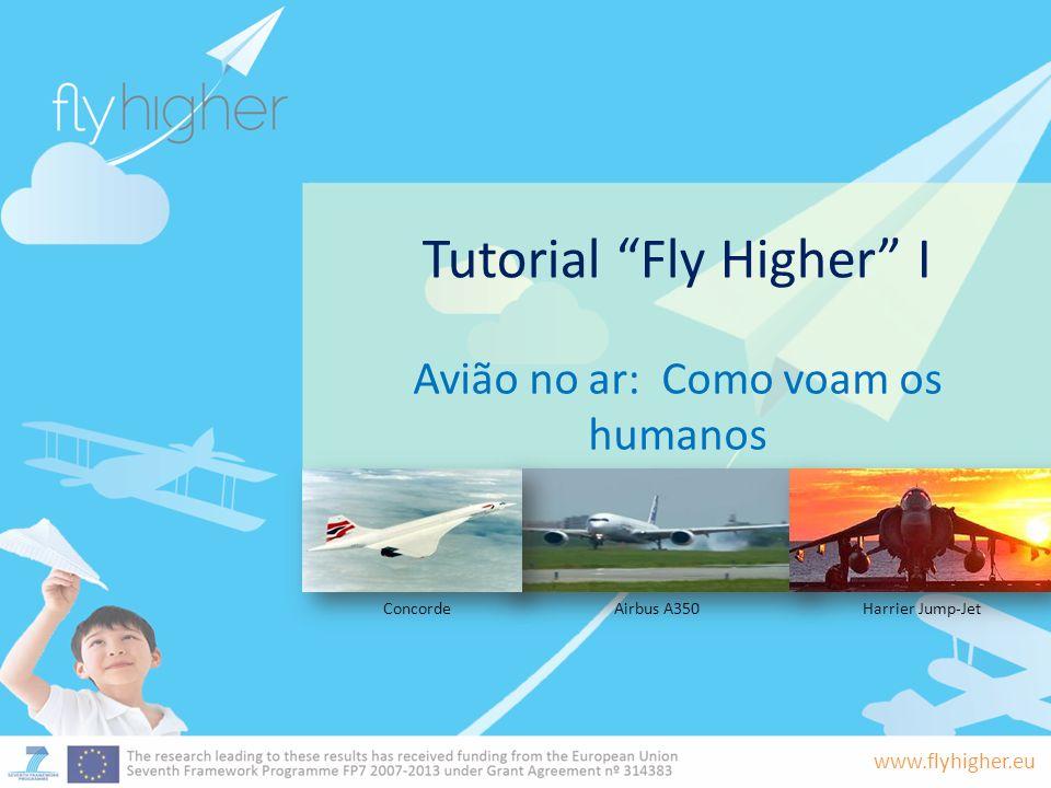 www.flyhigher.eu Tutorial Fly Higher I Avião no ar: Como voam os humanos Airbus A350ConcordeHarrier Jump-Jet