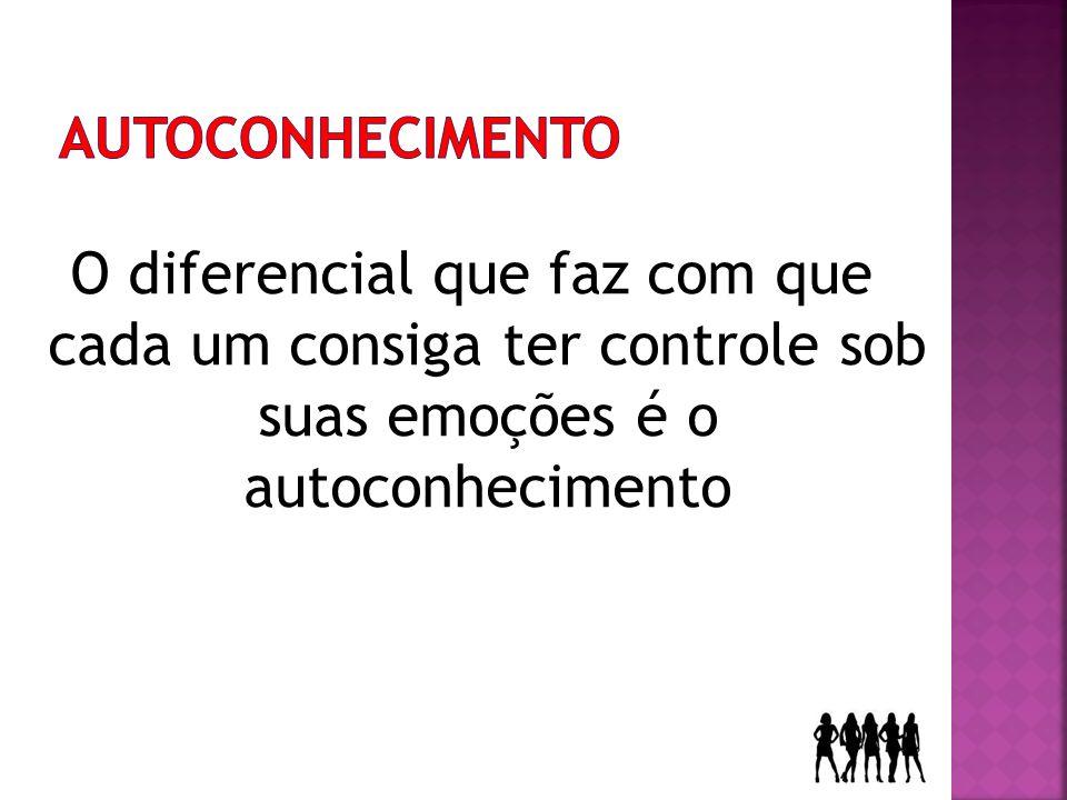 O diferencial que faz com que cada um consiga ter controle sob suas emoções é o autoconhecimento