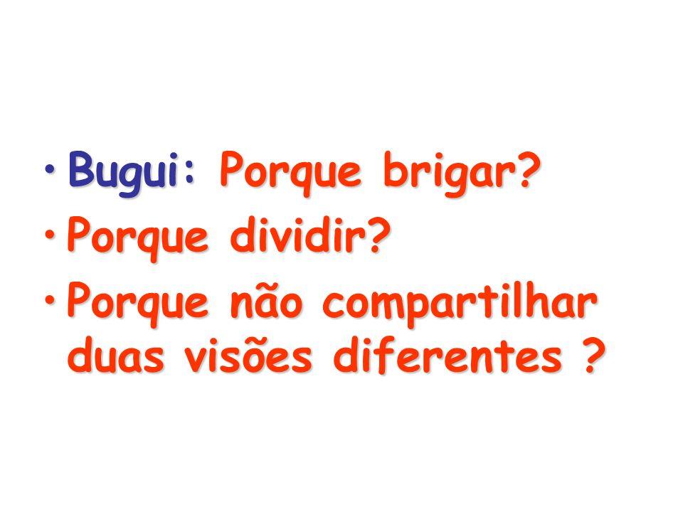 Bugui: Porque brigar?Bugui: Porque brigar.Porque dividir?Porque dividir.