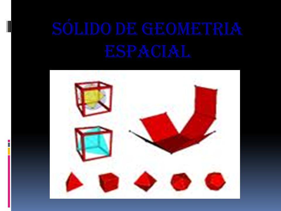 Sólido de geometria espacial