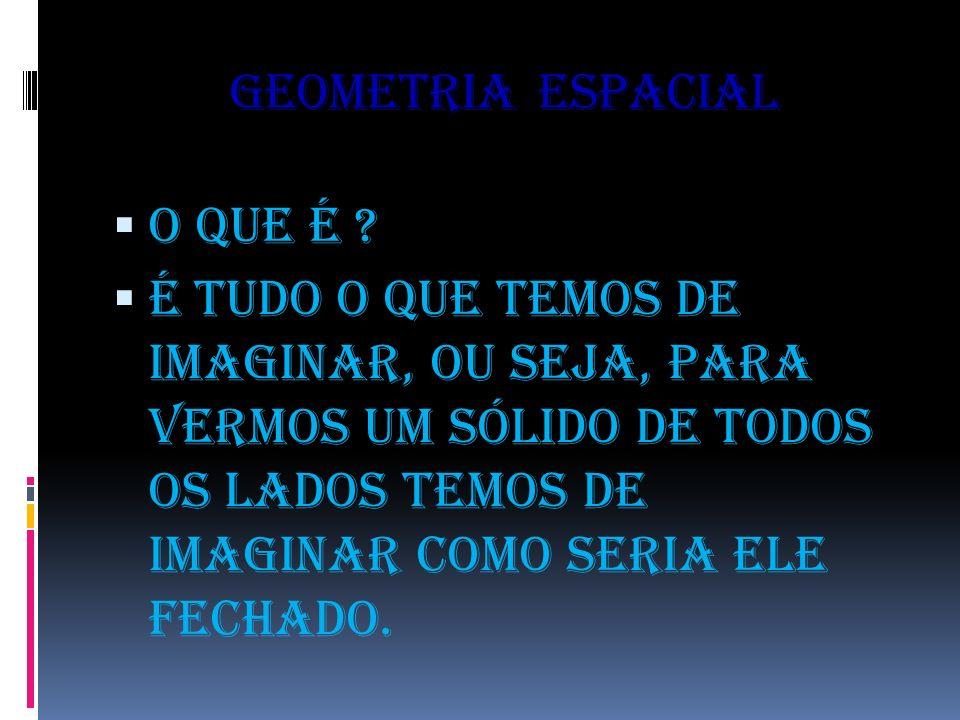 Geometria espacial O que é .