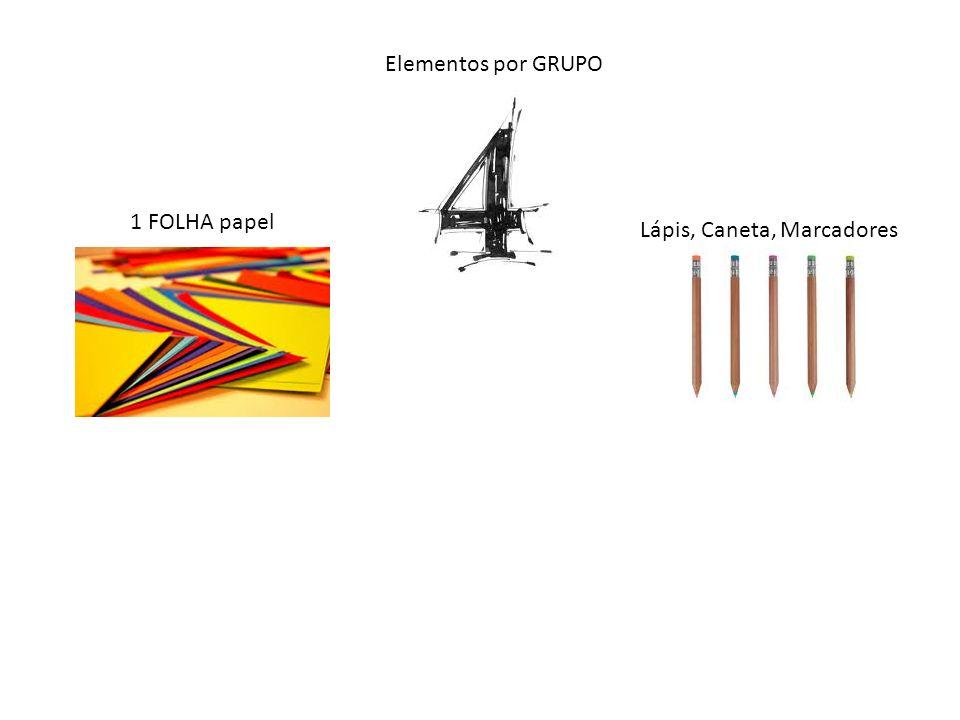 Elementos por GRUPO 1 FOLHA papel Lápis, Caneta, Marcadores