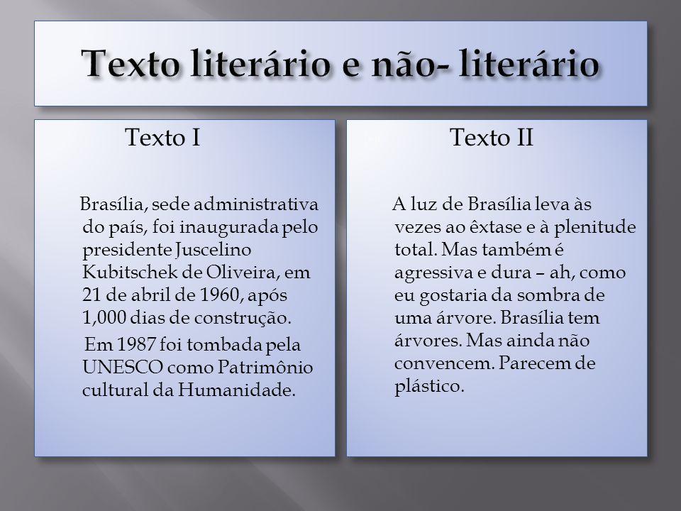Texto I Brasília, sede administrativa do país, foi inaugurada pelo presidente Juscelino Kubitschek de Oliveira, em 21 de abril de 1960, após 1,000 dia