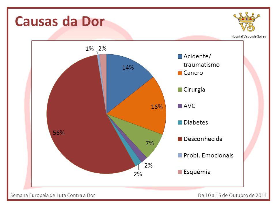 Causas da Dor Hospital Visconde Salreu Semana Europeia de Luta Contra a DorDe 10 a 15 de Outubro de 2011