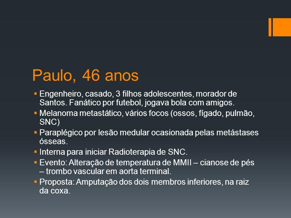 Paulo, 46 anos Engenheiro, casado, 3 filhos adolescentes, morador de Santos.