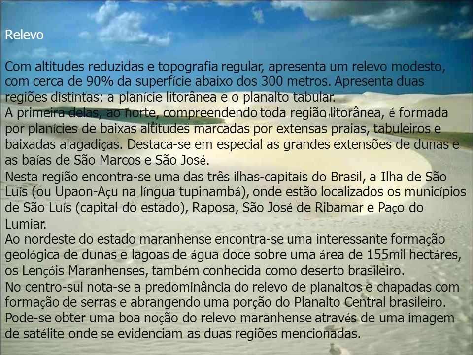 Turismo O Maranhão, por ser localizado em um bioma de transição entre o sertão nordestino e a Amazônia, apresenta ao visitante uma mescla de ecossistemas somente comparada, no Brasil, com a do Pantanal Mato-Grossense.