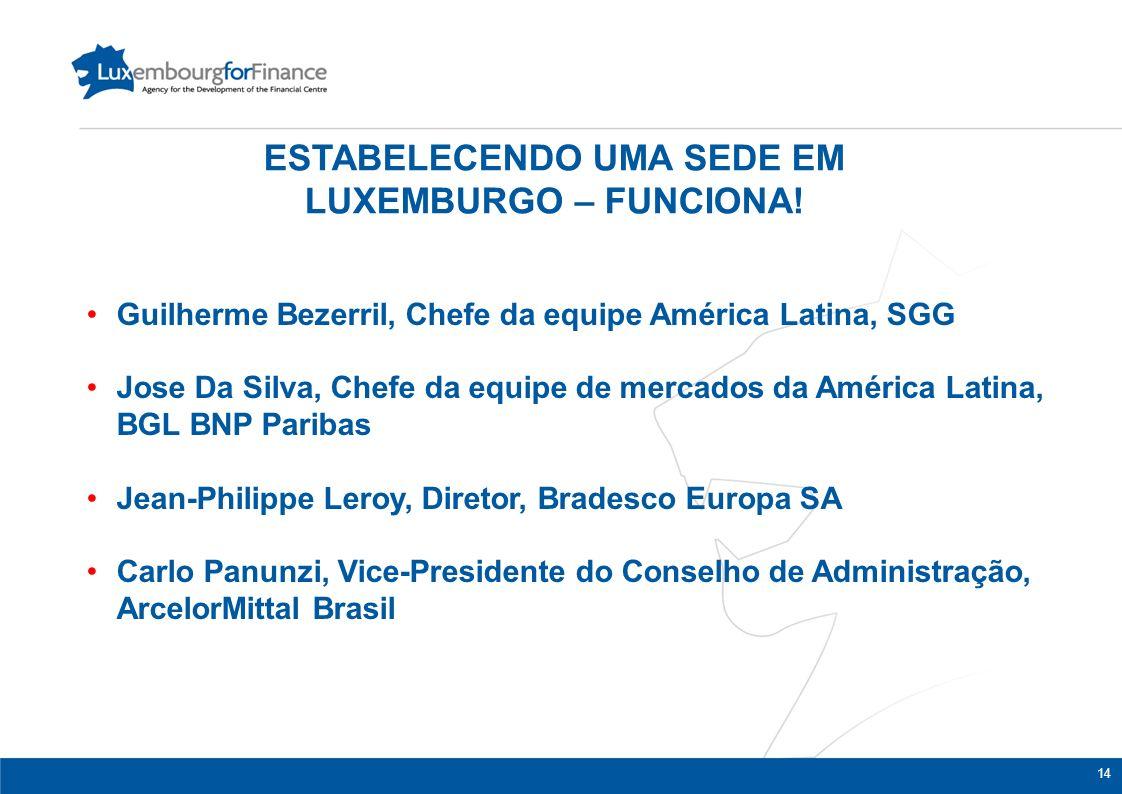 14 Guilherme Bezerril, Chefe da equipe América Latina, SGG Jose Da Silva, Chefe da equipe de mercados da América Latina, BGL BNP Paribas Jean-Philippe