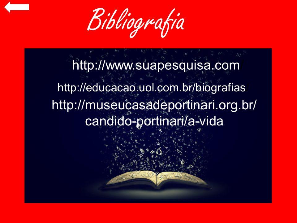 Bibliografia http://www.suapesquisa.com/ http://museucasadeportinari.org.br/ candido-portinari/a-vida http://educacao.uol.com.br/biografias/