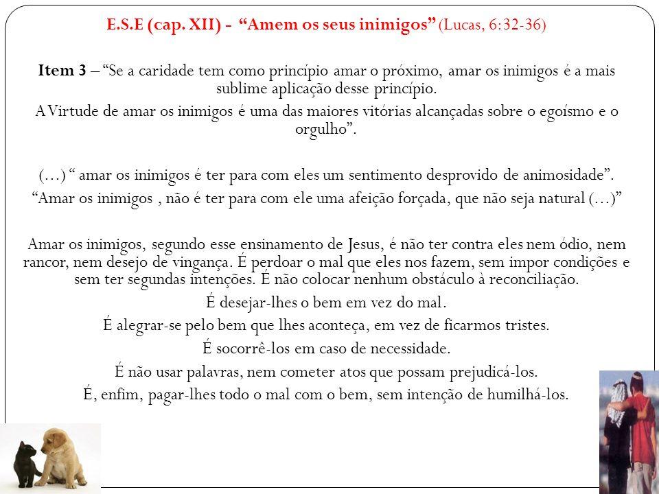 E.S.E.(cap. XIII) – Que a sua mão esquerda não saiba o que faz a sua mão direita.