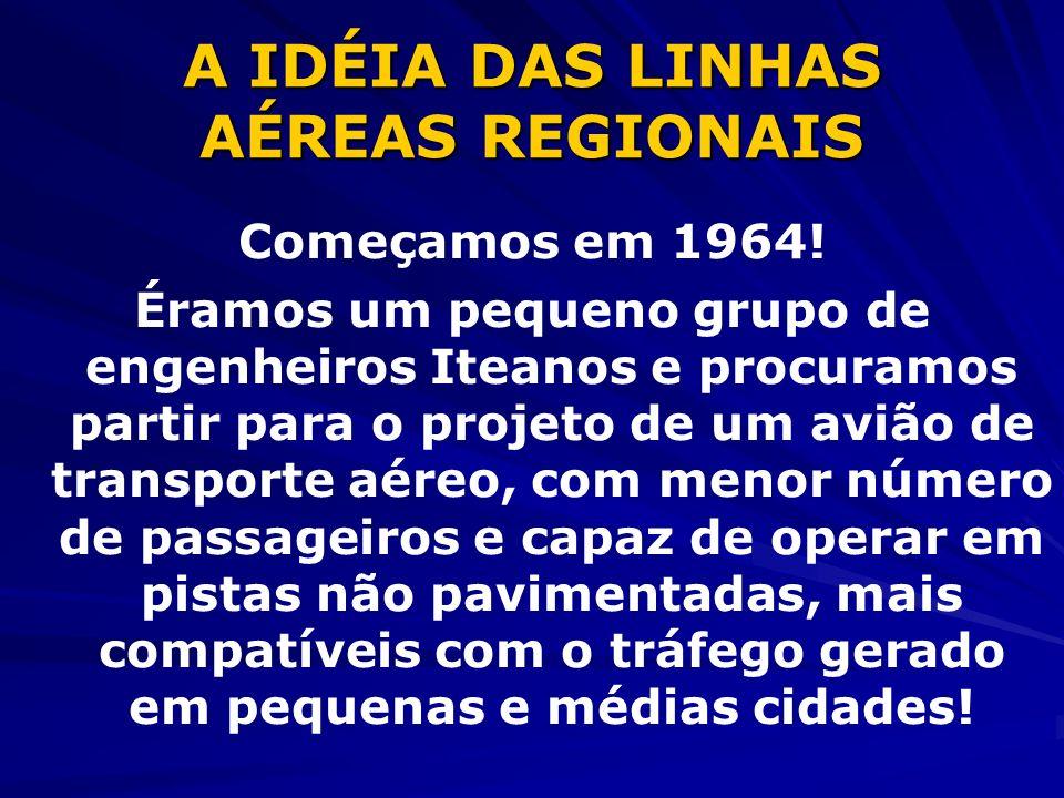 A IDÉIA DAS LINHAS AÉREAS REGIONAIS Começamos em 1964.