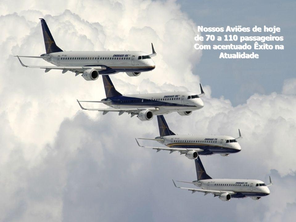 Nossos Aviões de hoje de 70 a 110 passageiros Com acentuado Êxito na Atualidade