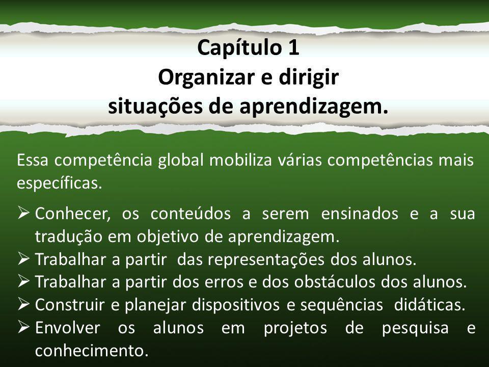 Essa competência global mobiliza várias competências mais específicas.