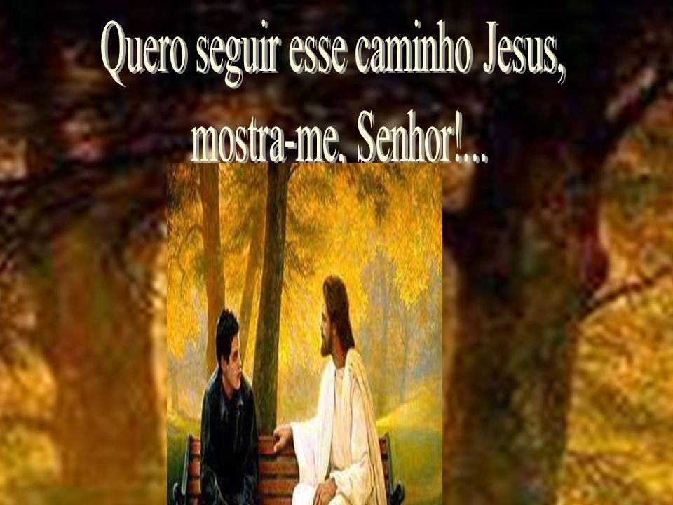 - E como vou conhecer esse caminho, Jesus.- Entra no Livro Sagrado.