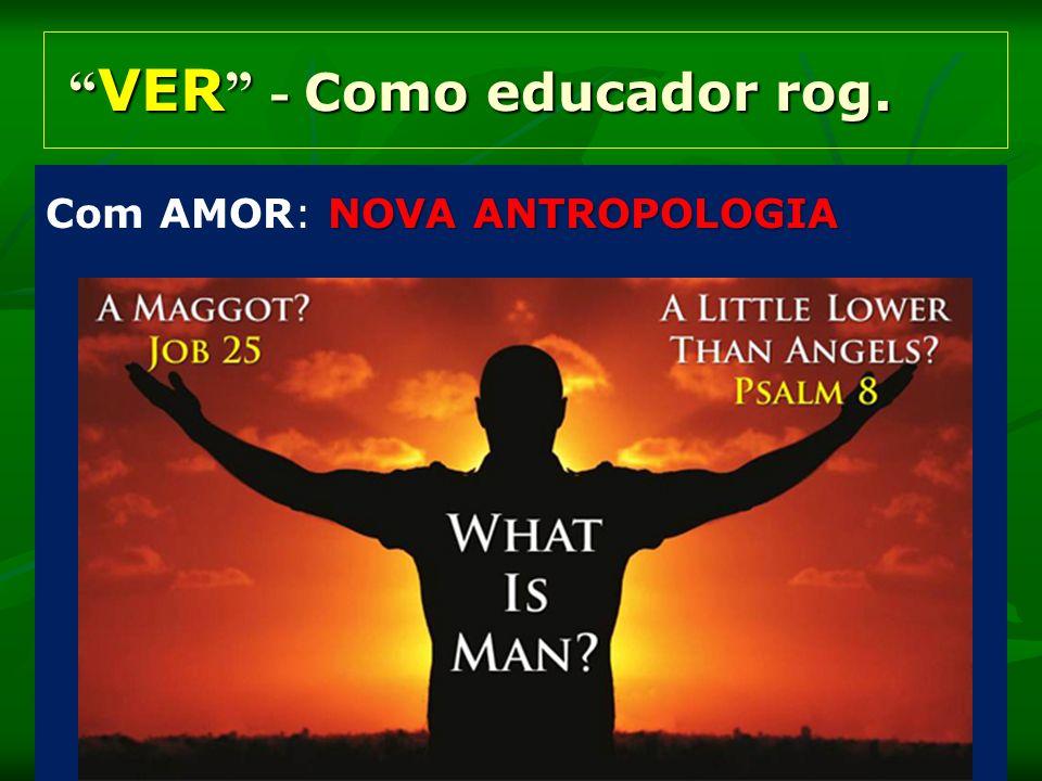 VER - Como educador rog. VER - Como educador rog. NOVA ANTROPOLOGIA Com AMOR: NOVA ANTROPOLOGIA
