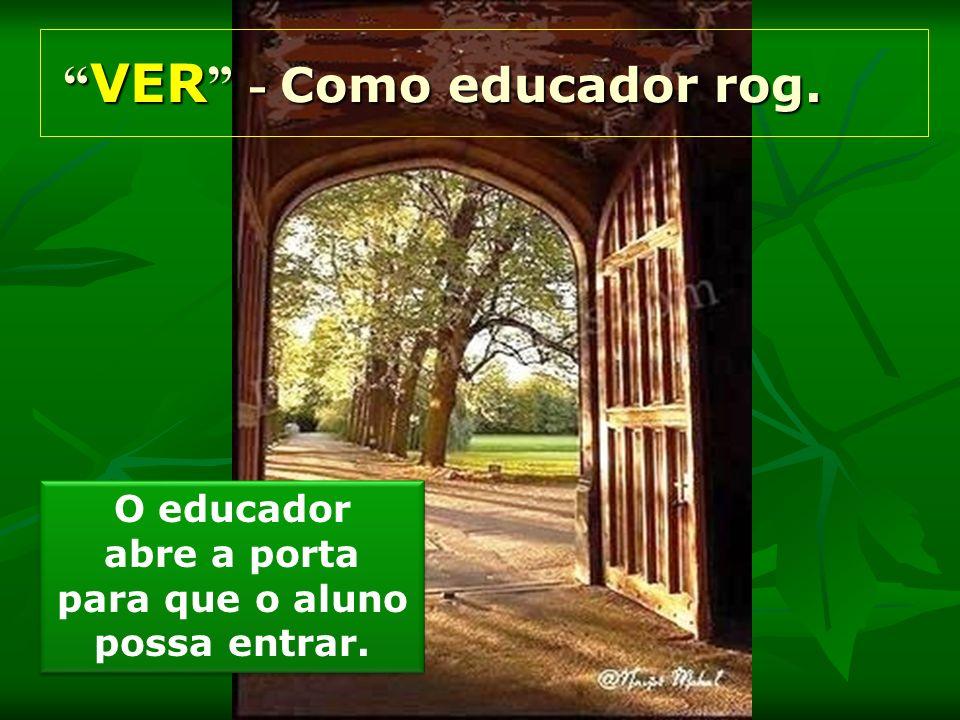 O educador abre a porta para que o aluno possa entrar. O educador abre a porta para que o aluno possa entrar. VER - Como educador rog. VER - Como educ