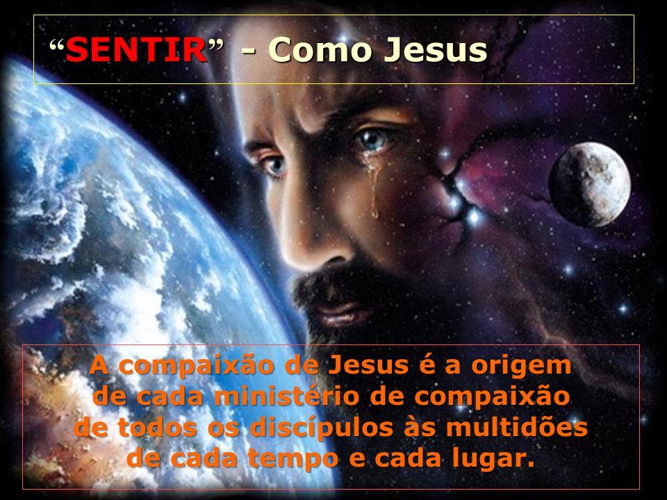 SENTIR - Como Jesus SENTIR - Como Jesus A compaixão de Jesus é a origem de cada ministério de compaixão de todos os discípulos às multidões de cada te