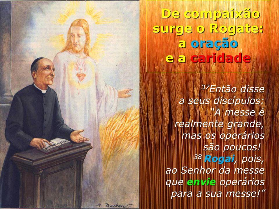 De compaixão surge o Rogate: a oração e a caridade De compaixão surge o Rogate: a oração e a caridade 37 Então disse a seus discípulos: A messe é real