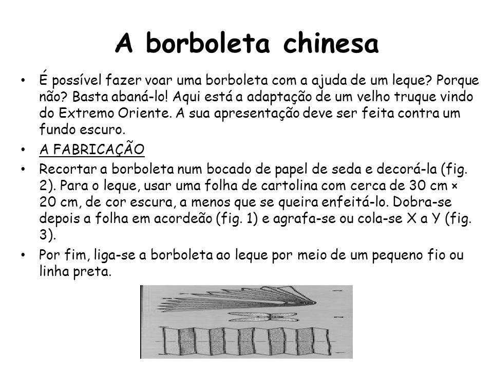 Numera de 1 a 5 as tarefas necessárias à fabricação do material para o truque, de acordo com as instruções do texto e das figuras.