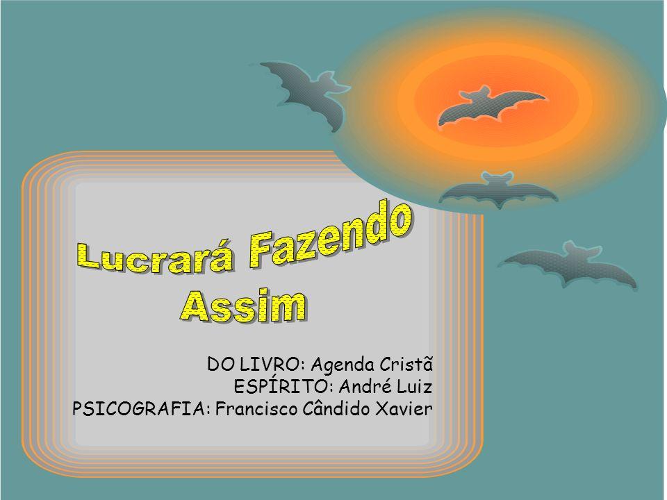 DO LIVRO: Agenda Cristã ESPÍRITO: André Luiz PSICOGRAFIA: Francisco Cândido Xavier