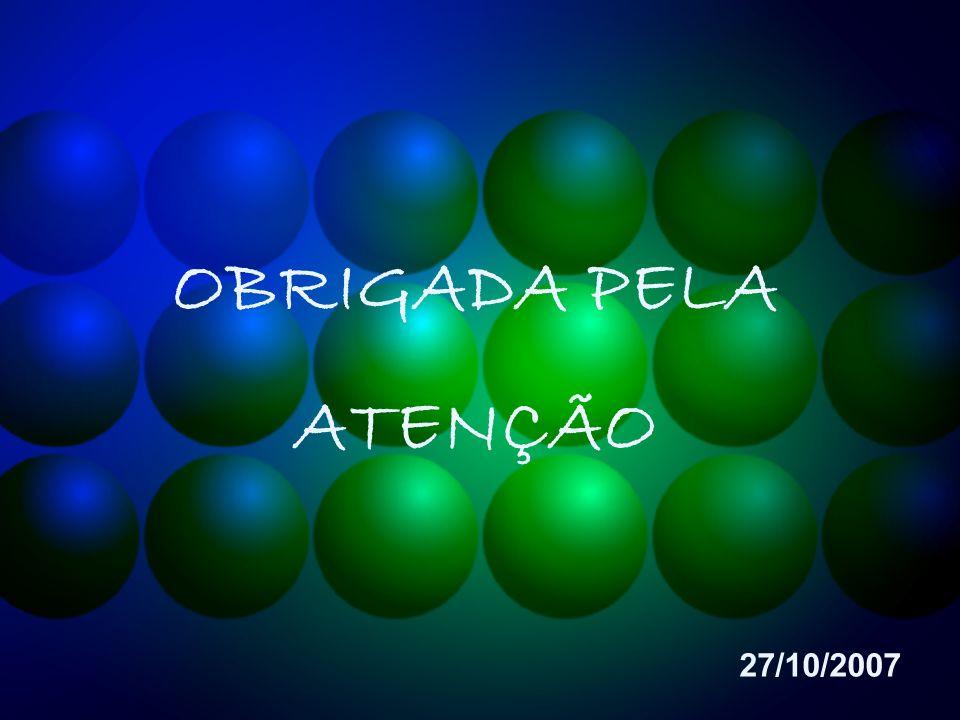 OBRIGADA PELA ATENÇÃO 27/10/2007
