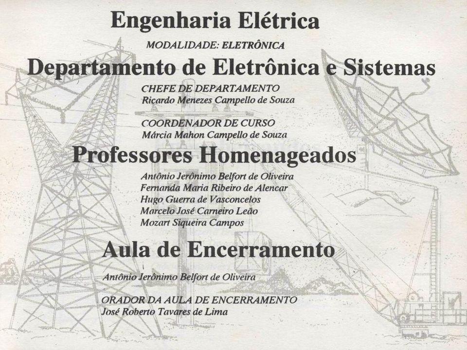 Cabe certamente relembrar a importância da atuação decisiva e rigorosa da prof a. Márcia, na coordenação do curso de graduação em Engenharia Eletrônic
