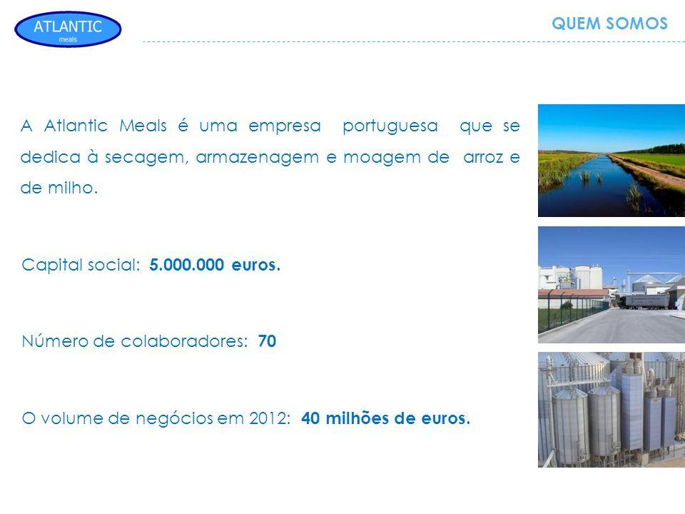 A Atlantic Meals é uma empresa portuguesa que se dedica à secagem, armazenagem e moagem de arroz e de milho. Capital social: 5.000.000 euros. Número d