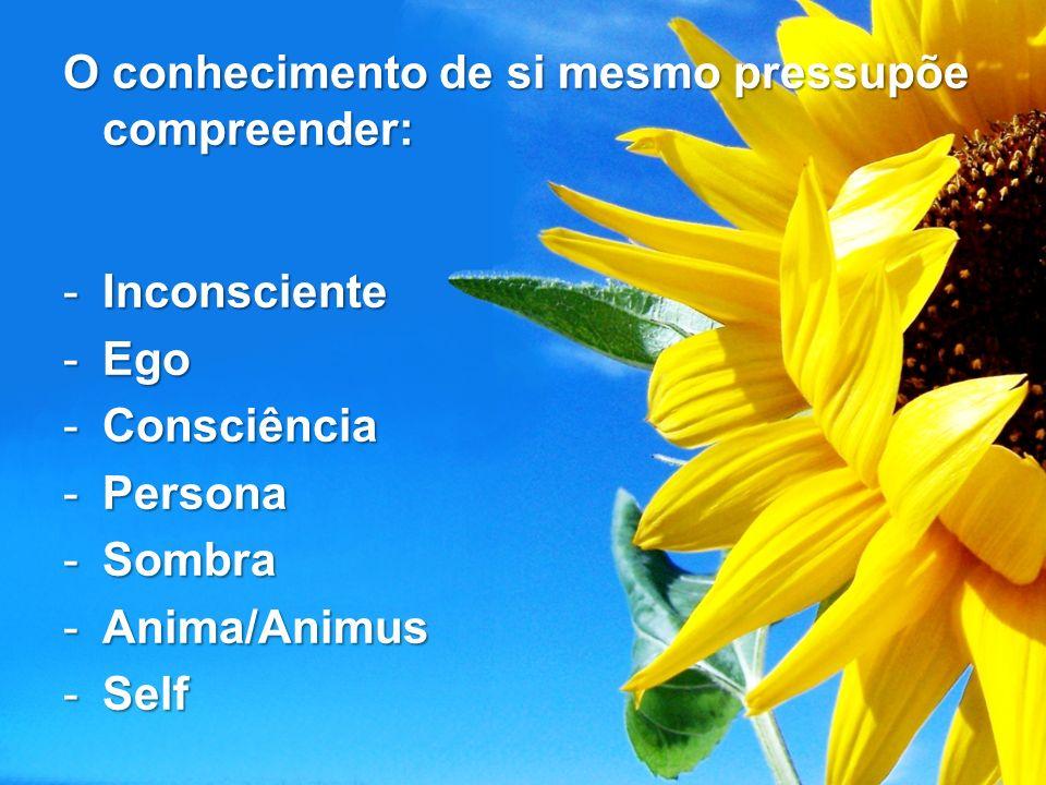 O conhecimento de si mesmo pressupõe compreender: -Inconsciente -Ego -Consciência -Persona -Sombra -Anima/Animus -Self
