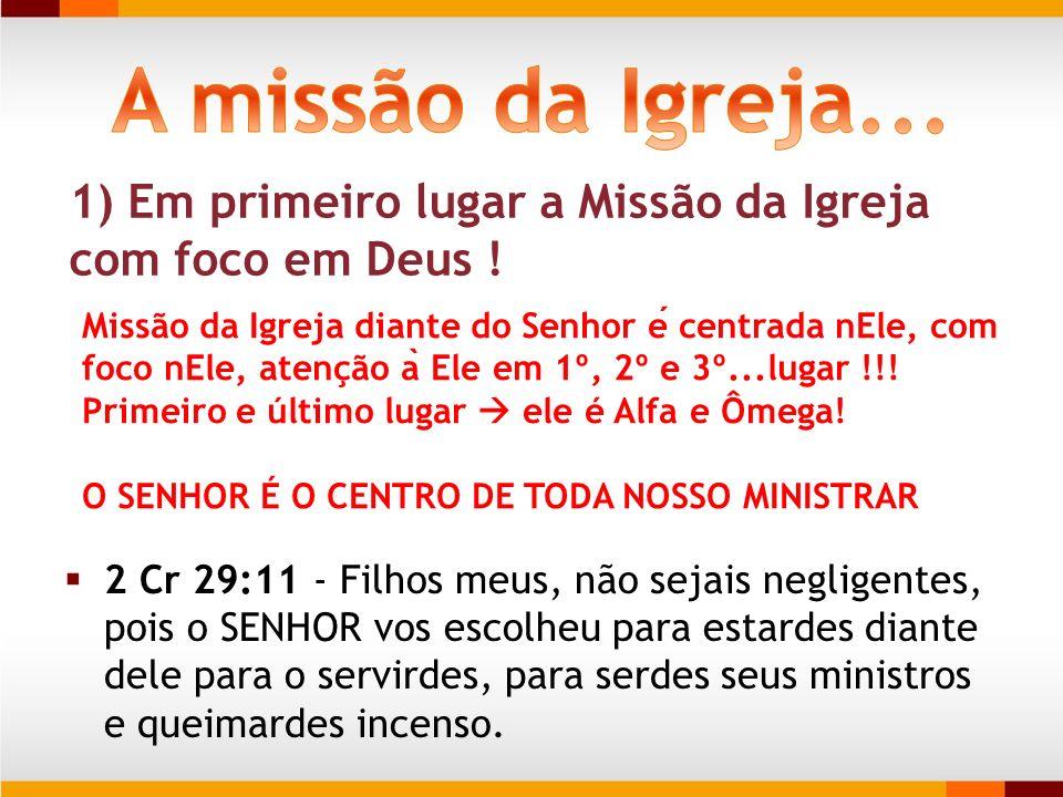 2 Cr 29:11 - Filhos meus, não sejais negligentes, pois o SENHOR vos escolheu para estardes diante dele para o servirdes, para serdes seus ministros e