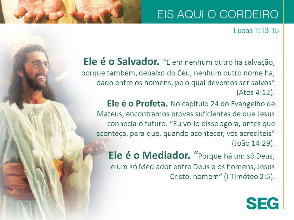 Ele é o Salvador. E em nenhum outro há salvação, porque também, debaixo do Céu, nenhum outro nome há, dado entre os homens, pelo qual devemos ser salv