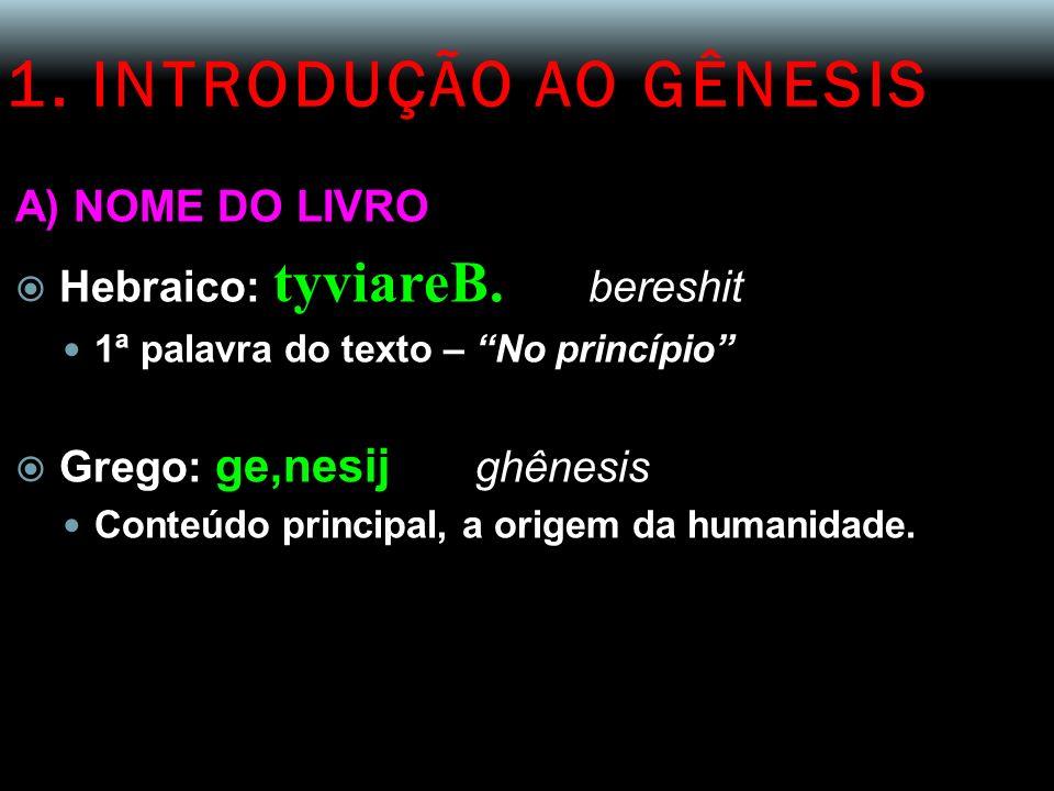 3.LEITURA DE GN 1,1 – 2,4a 6º DIA (Gn 1,24) D EUS DISSE : Produza a terra seres vivos...