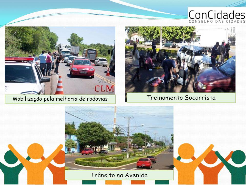 Mobilização pela melhoria de rodovias Treinamento Socorrista Trânsito na Avenida