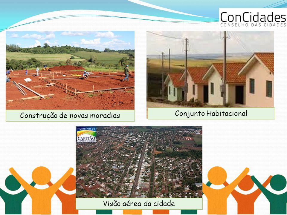 Construção de novas moradias Conjunto Habitacional Visão aérea da cidade