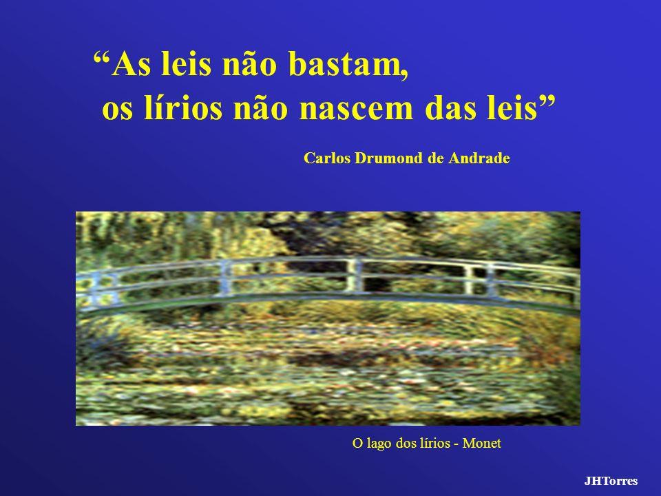 As leis não bastam, os lírios não nascem das leis Carlos Drumond de Andrade O lago dos lírios - Monet JHTorres