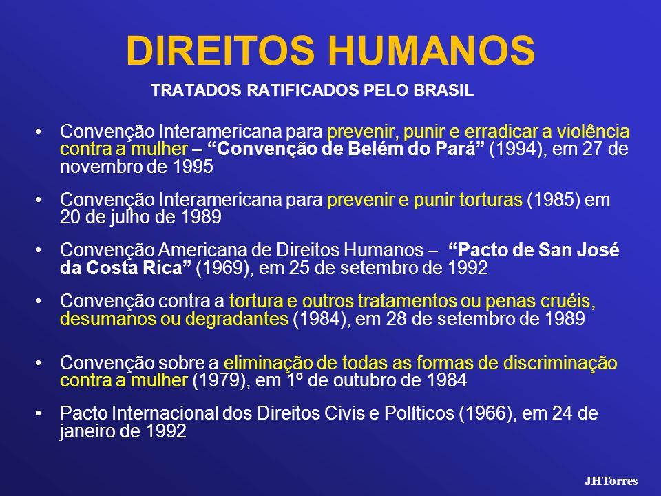 DIREITOS HUMANOS TRATADOS RATIFICADOS PELO BRASIL Convenção Interamericana para prevenir, punir e erradicar a violência contra a mulher – Convenção de