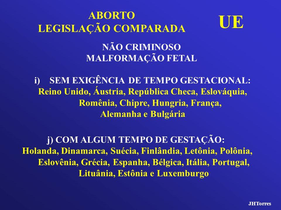JHTorres i)SEM EXIGÊNCIA DE TEMPO GESTACIONAL: Reino Unido, Áustria, República Checa, Eslováquia, Romênia, Chipre, Hungria, França, Alemanha e Bulgári