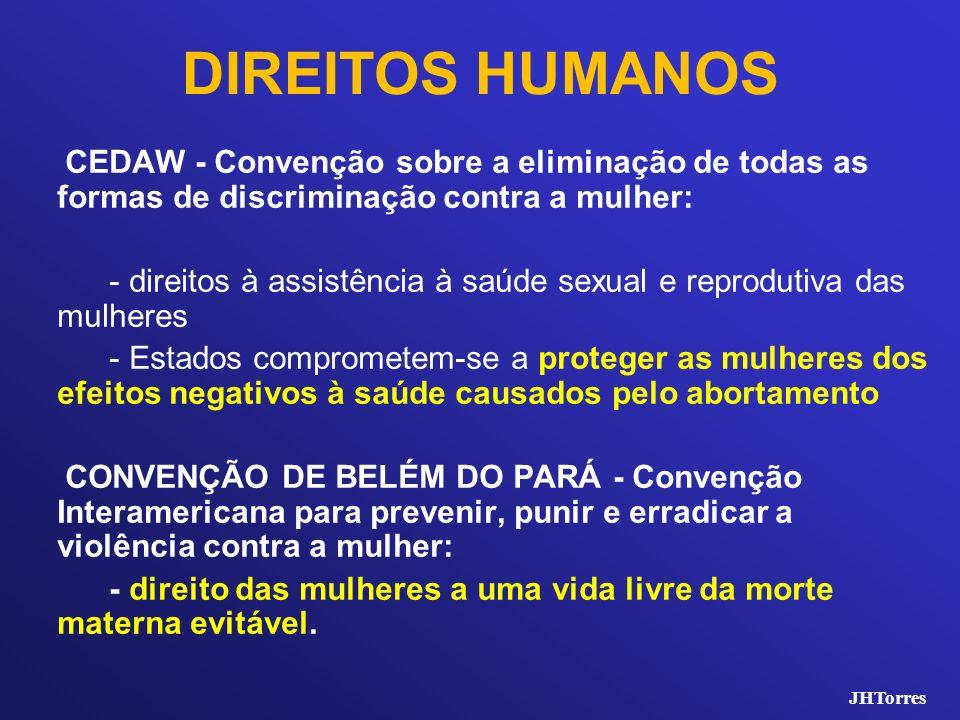 DIREITOS HUMANOS CEDAW - Convenção sobre a eliminação de todas as formas de discriminação contra a mulher: - direitos à assistência à saúde sexual e r
