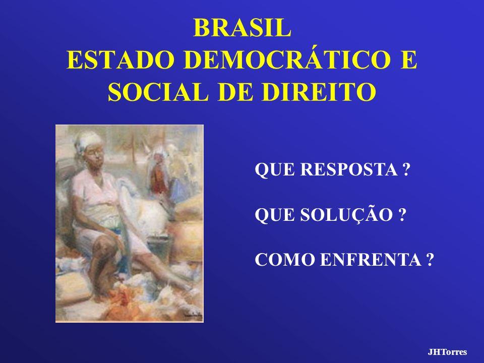 BRASIL ESTADO DEMOCRÁTICO E SOCIAL DE DIREITO QUE RESPOSTA ? QUE SOLUÇÃO ? COMO ENFRENTA ? JHTorres