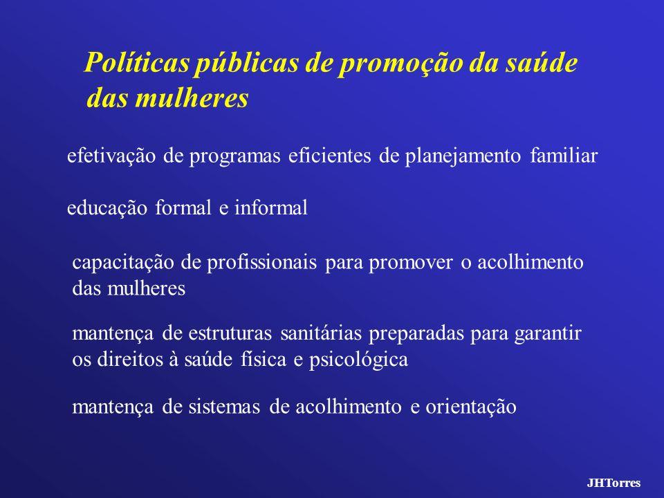 educação formal e informal Políticas públicas de promoção da saúde das mulheres mantença de sistemas de acolhimento e orientação mantença de estrutura