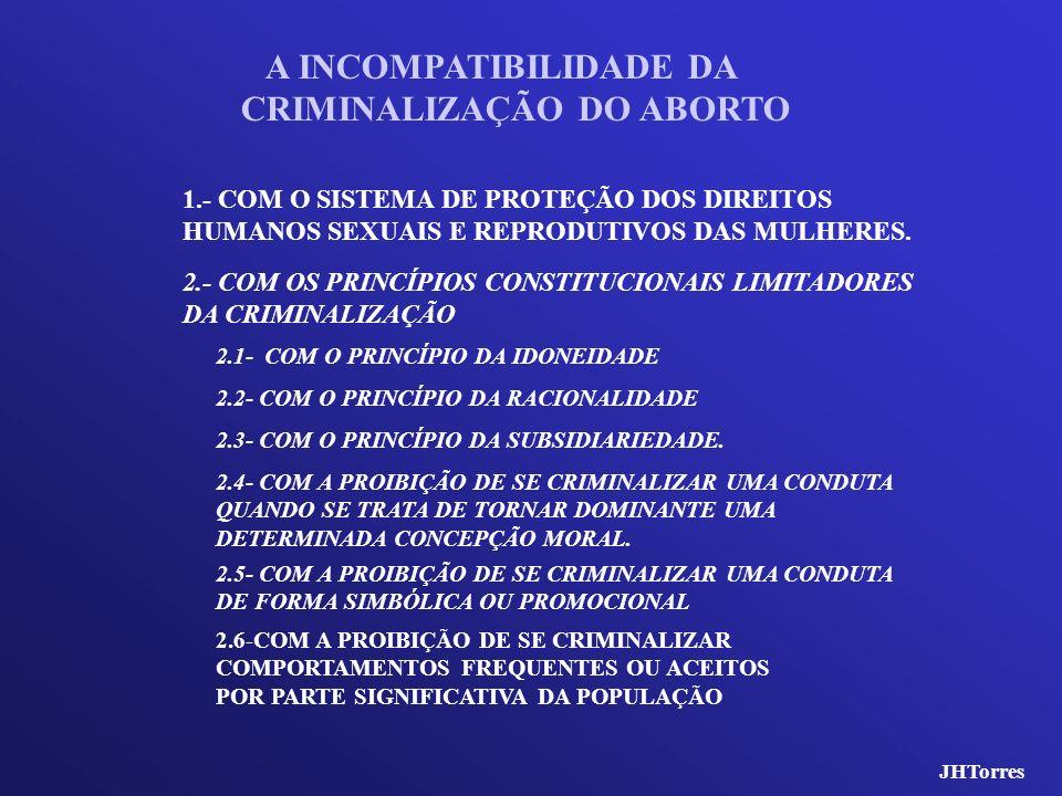 2.6-COM A PROIBIÇÃO DE SE CRIMINALIZAR COMPORTAMENTOS FREQUENTES OU ACEITOS POR PARTE SIGNIFICATIVA DA POPULAÇÃO 2.5- COM A PROIBIÇÃO DE SE CRIMINALIZ