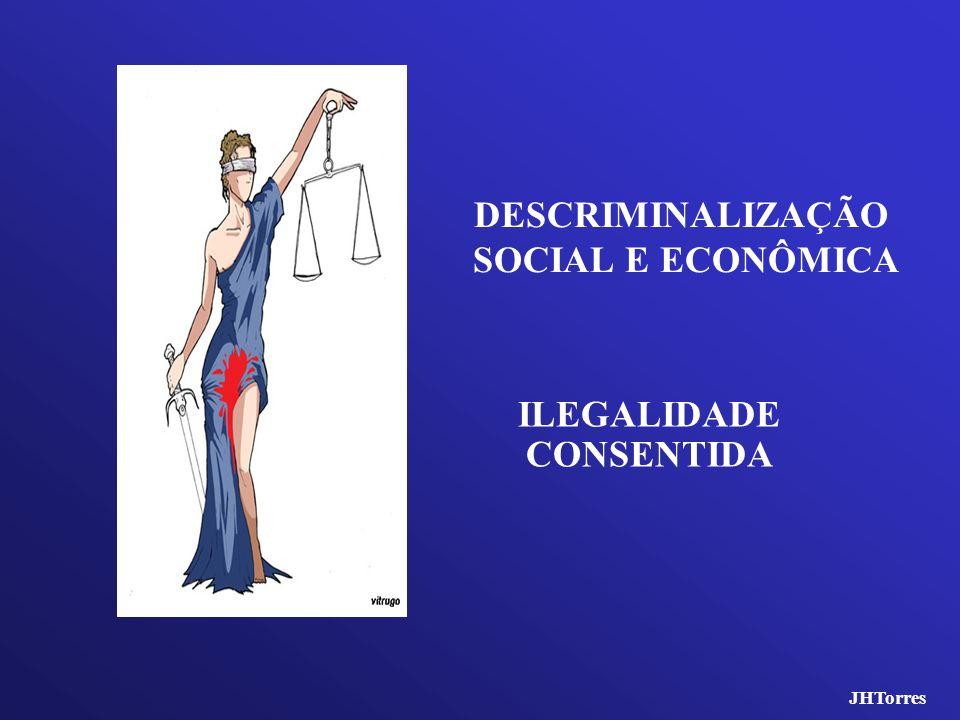 DESCRIMINALIZAÇÃO SOCIAL E ECONÔMICA ILEGALIDADE CONSENTIDA JHTorres