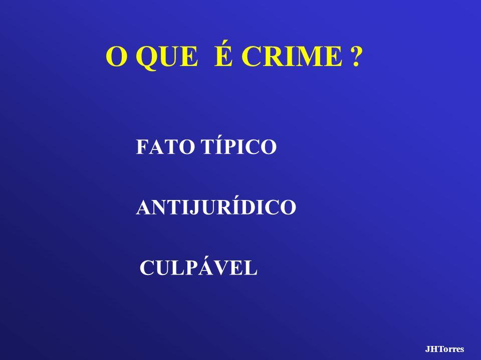 O QUE É CRIME ? FATO TÍPICO ANTIJURÍDICO CULPÁVEL JHTorres