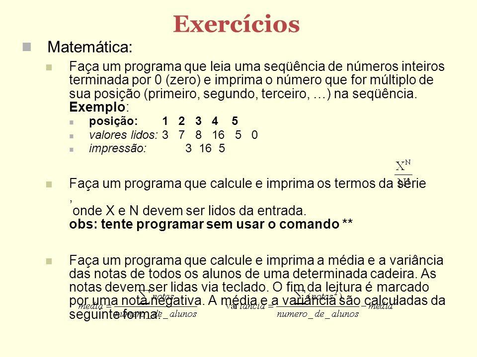Exercícios Matemática: Faça um programa que leia uma seqüência de números inteiros terminada por 0 (zero) e imprima o número que for múltiplo de sua p